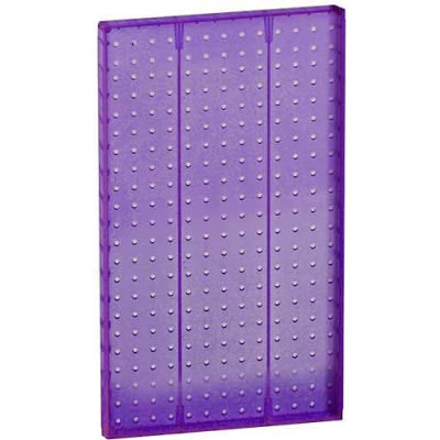 "Azar Displays 771322-PUR Pegboard Wall Panel, 13.5"" x 22"", Purple Opaque"