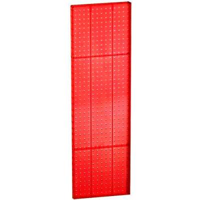 "Azar Displays 771344-RED Pegboard Wall Panel, 13.5"" x 44"""