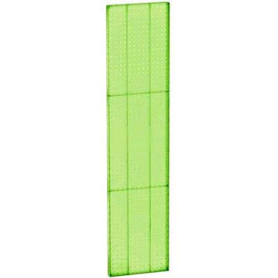 "Azar Displays 771360-GRE Pegboard Wall Panel, 13.5"" x 60"", Green Opaque"