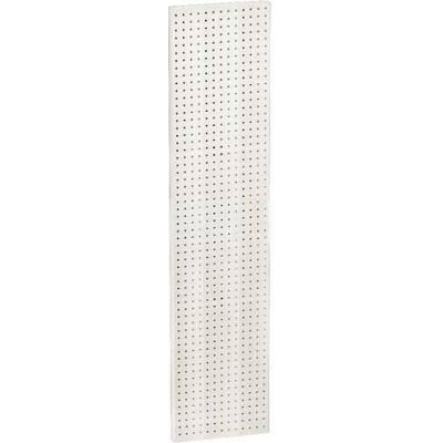 "Azar Displays 771360-WHT Pegboard Wall Panel, 13.5"" x 60"", White Solid"