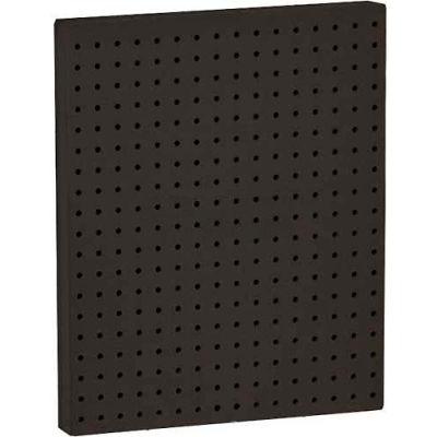 "Azar Displays 771620-BLK Pegboard Wall Panel, 16"" x 20"", Black Solid"