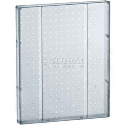 "Azar Displays 771620-CLR Pegboard Wall Panel, 16"" x 20"", Clear Opaque"