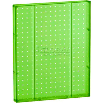 "Azar Displays 771620-GRE Pegboard Wall Panel, 16"" x 20"", Green Opaque"