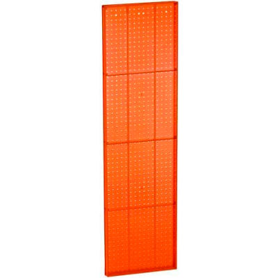 "Azar Displays 771660-ORG Orange Pegboard Wall Panel, 16"" x 60"""