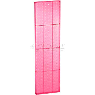 "Azar Displays 771660-PNK Pink Pegboard Wall Panel, 16"" x 60"""