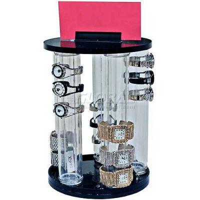 "Azar Displays 900070 Vertical 5-Pole Bracelet Countertop Display, 13.875"" High, Clear ,1 Piece"