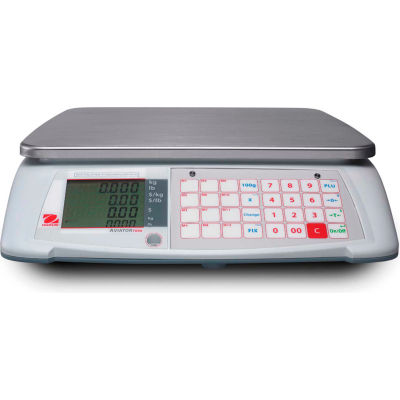 Ohaus® Aviator 7000 Digital Price Computing Scale Dual Weigh 60lb x 0,01lb/30kg x 10g Max