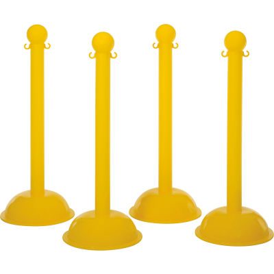 Mr. Chain 99902 -4 Warning Post - Yellow, 4/Pack