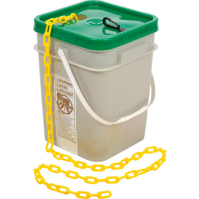 "Mr. Chain 30002-100 Plastic Chain - 1-1/2"" x 100' - Yellow"