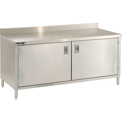 """Aero Manufacturing 2TSBOHD-3072 72""""W x 30""""D Cabinet Workbench With Hinged Doors"""