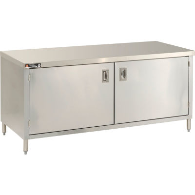 "Aero Manufacturing 4TGOHD-2496 96""W x 24""D Economy Flat Top Cabinet, Hinged Doors, Galv."