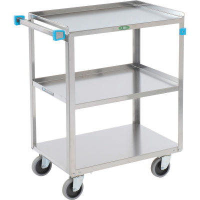 Lakeside® 411 Stainless Steel Utility Cart 27-5/8 x 16-3/4 x 32 500 Lb Cap