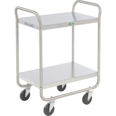 Lakeside® 210 Tubular Stainless 2 Shelf Utility Cart 27 x 17 x 35 500 Lb Cap
