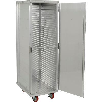 "Winholt EC1840-CLC Enclosed Mobile Transport Cabinet, 68""H, 40 Pan Capacity, Aluminum"