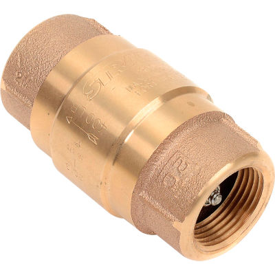 """1"""" FNPT Brass Check Valve with Buna-N Rubber Poppet"""