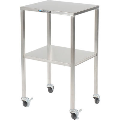 """Lakeside® 8353 Stainless Steel Instrument Table with Shelf - 20""""L x 16""""W x 34""""H"""
