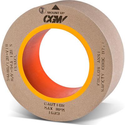 "CGW Abrasives 35360 Centerless Grinding Wheel 24"" x 8"" x 12"" Type 1 60 Grit Silicon Carbide"