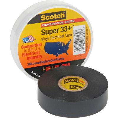 """3m™ Scotch® Super 33 +™ ruban isolant en vinyle, 3/4 """"X 66', noir"""