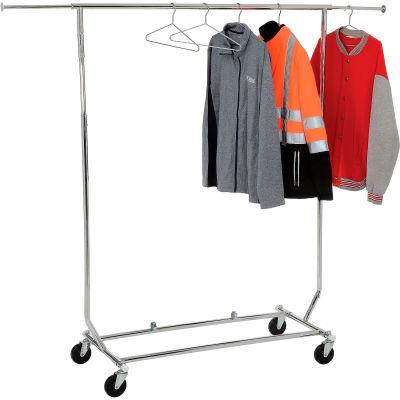 Vêtements Portable pliable Rack RCS/1 - tube - rond Chrome de vendeur
