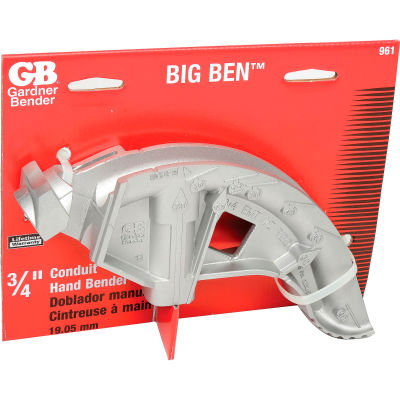 """Gardner Bender Bigben Aluminum Bender, 3/4"""" Emt, 1/2"""" Rigid, Imc"""