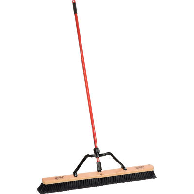 "Libman Commercial 36"" Smooth Sweep Push Broom - Brace Handle - 850 - Pkg Qty 3"