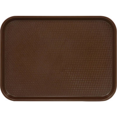 """Cambro 1418FF167 - Tray Fast Food 14"""" x 18"""",  Brown - Pkg Qty 12"""