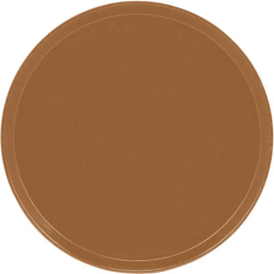 "Cambro 1550508 - Camtray 15.5"" Round Low,  Suede Brown - Pkg Qty 12"