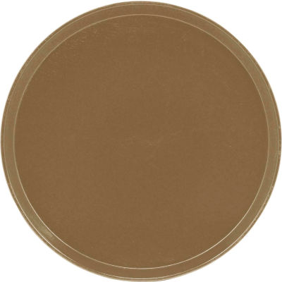 """Cambro 1550513 - Camtray 15.5"""" Round Low,  Bayleaf Brown - Pkg Qty 12"""