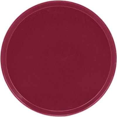 """Cambro 1950522 - Camtray 19.5"""" Round Low,  Burgundy Wine - Pkg Qty 12"""