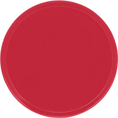 """Cambro 1600221 - Camtray 16"""" Round,  Ever Red - Pkg Qty 12"""