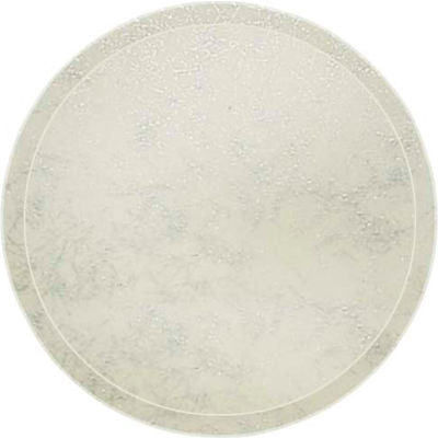 """Cambro 1950531 - Camtray 19.5"""" Round Low,  Galaxy Antique Parchment Silver - Pkg Qty 12"""