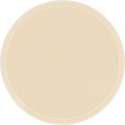 """Cambro 1950537 - Camtray 19.5"""" Round Low,  Cameo Yellow - Pkg Qty 12"""