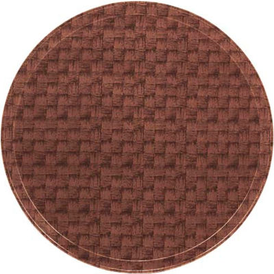 "Cambro 1950301 - Camtray 19.5"" Round Low,  Dark Basketweave - Pkg Qty 12"