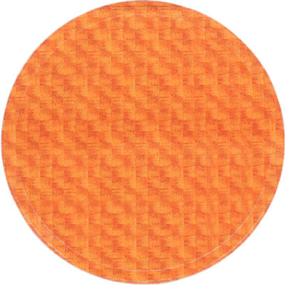 "Cambro 1950302 - Camtray 19.5"" Round Low,  Light Basketweave - Pkg Qty 12"