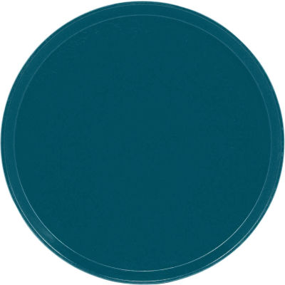 """Cambro 1550401 - Camtray 15.5"""" Round Low,  Slate Blue - Pkg Qty 12"""