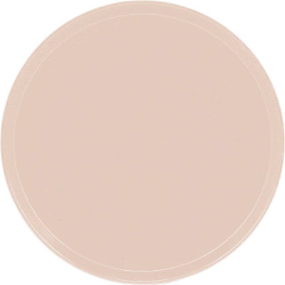 """Cambro 1550106 - Camtray 15.5"""" Round Low,  Light Peach - Pkg Qty 12"""
