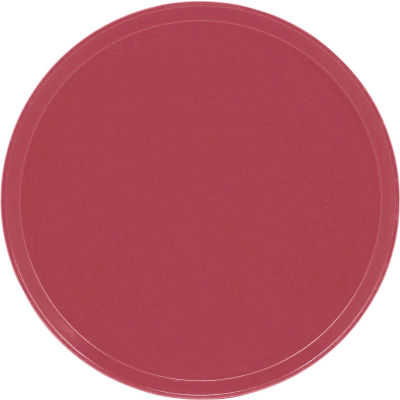 "Cambro 1550410 - Camtray 15.5"" Round Low,  Raspberry Cream - Pkg Qty 12"