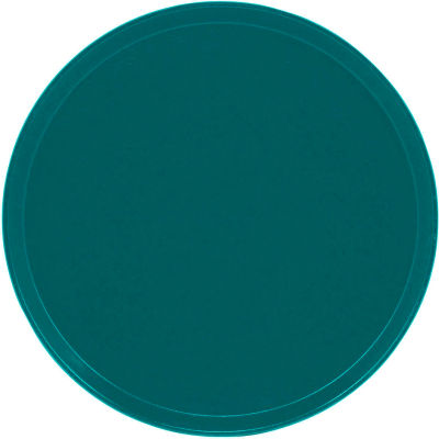 """Cambro 1550414 - Camtray 15.5"""" Round Low,  Teal - Pkg Qty 12"""