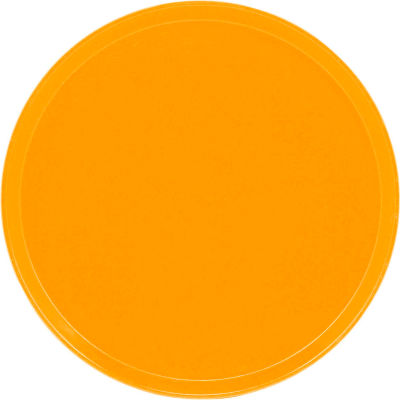 """Cambro 1550504 - Camtray 15.5"""" Round Low,  Mustard - Pkg Qty 12"""