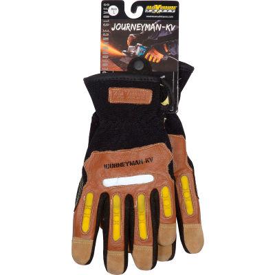 PIP Maximum Safety® Journeyman KV, Professional Workman's Glove, Brown, L, 1 Pair