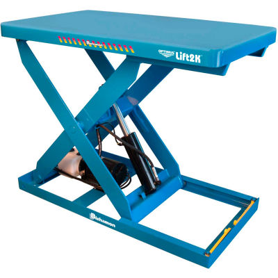 Bishamon® OPTIMUS Lift2K Power Scissor Lift Table 48x28 2000 Lb. Cap. Hand Control L2K-2848