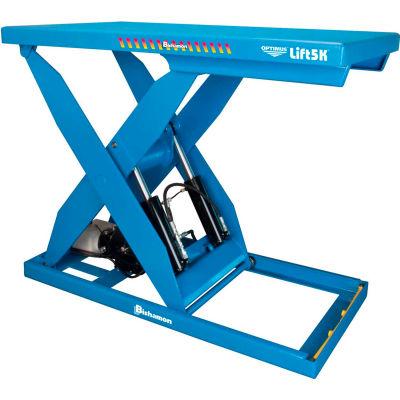 Bishamon® OPTIMUS Lift5K Power Scissor Lift Table 72 x 48 5000 Lb. Cap. Hand Control L5K-4872