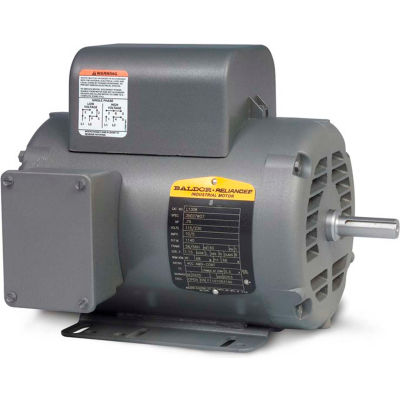 Baldor-Reliance Motor L1320T, 2HP, 3450RPM, 1PH, 60HZ, 145T, 3528LC, OPEN, F1