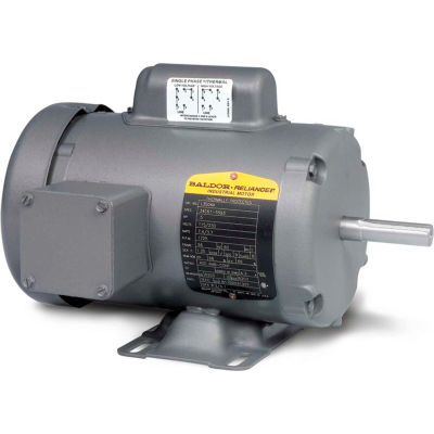 Baldor-Reliance Single Phase Motor, L3509, 1 HP, 115/230 Volts, 3450 RPM, TEFC, 56/56H Frame