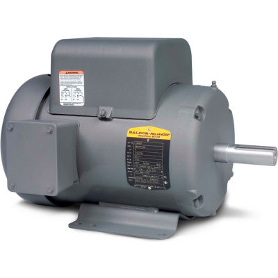 Baldor-Reliance Single Phase Motor, L3608TM, 5 HP, 230 Volts, 3450 RPM, TEFC, 184T Frame