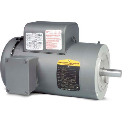 Baldor-Reliance Single Phase Motor, VL3514, 1.5 HP, 115/230 Volts, 1725 RPM, TEFC, 56C Frame