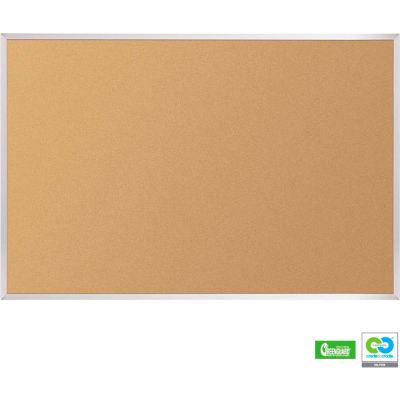 """Balt® VT Logic Cork Board - Aluminum Trim, 48""""W x 33-3/4""""H"""