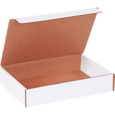 "Corrugated Literature Mailers 9"" x 6-1/2"" x 1-3/4"" 200#/ECT-32 White - Pkg Qty 50"