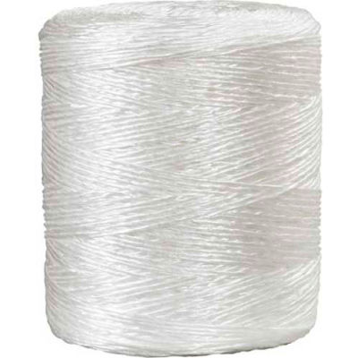 1 Ply Polypropylene Tying Twine, 5500'L, 210 Lbs/in Tensile Strength, White, 1 Pack