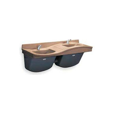Bradley Corp® Lavatory System, Low On Left, 2 People, Series FL2L, 2 Person